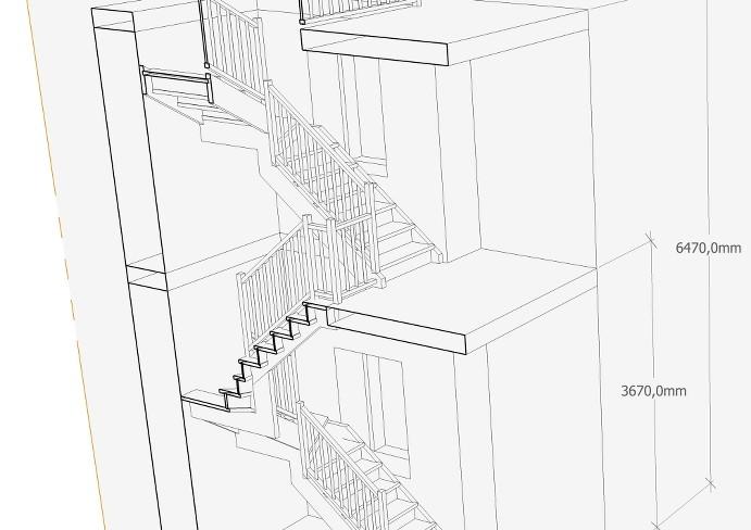 Progetto scala su 3 piani